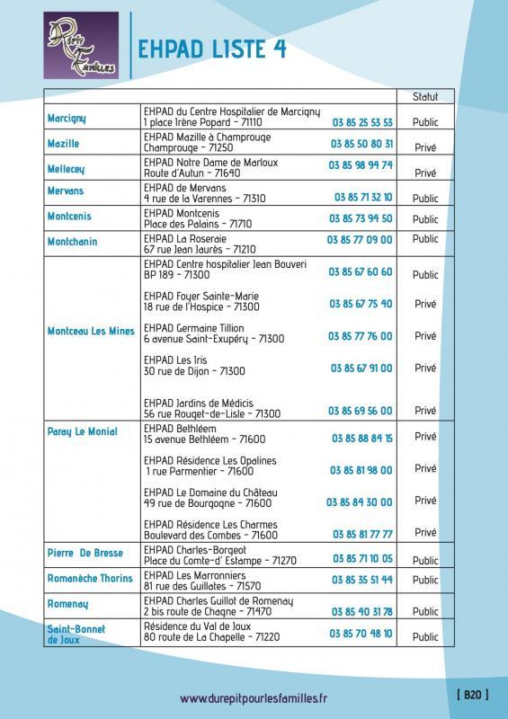 B20 etablissement d hebergement pour personnes agees dependantes ehpad liste 4