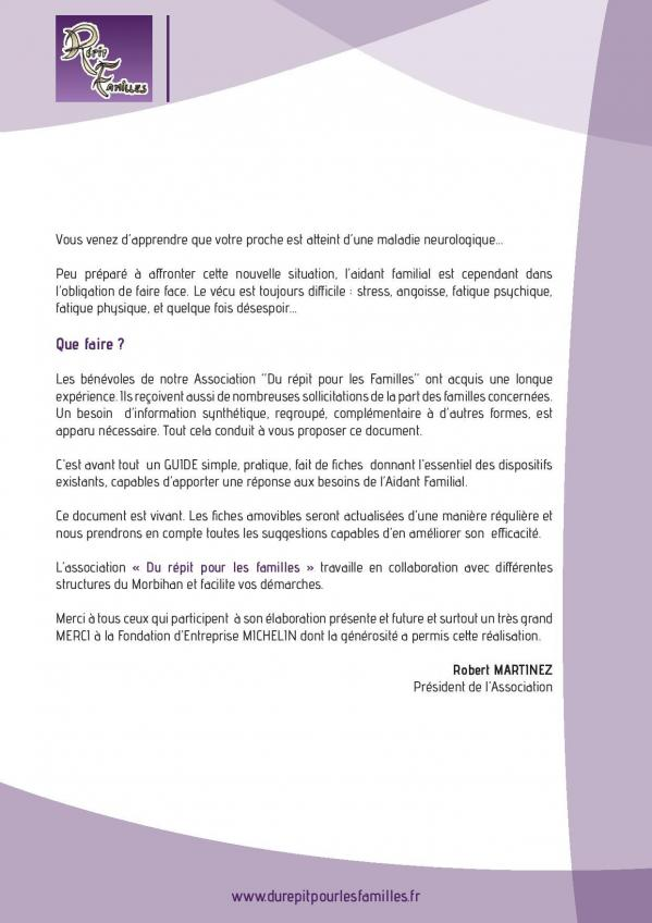 Guide de l aidant mot du president page 2